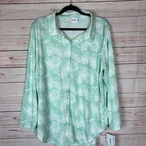 LuLaRoe Valentina Button Up Shirt Size XL NWT